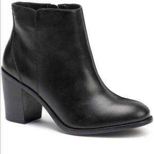 NIB Trask Tinsley Black Calfskin Leather Booties